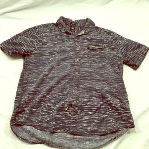 Vintage mens Volcom surfer style button down shirt